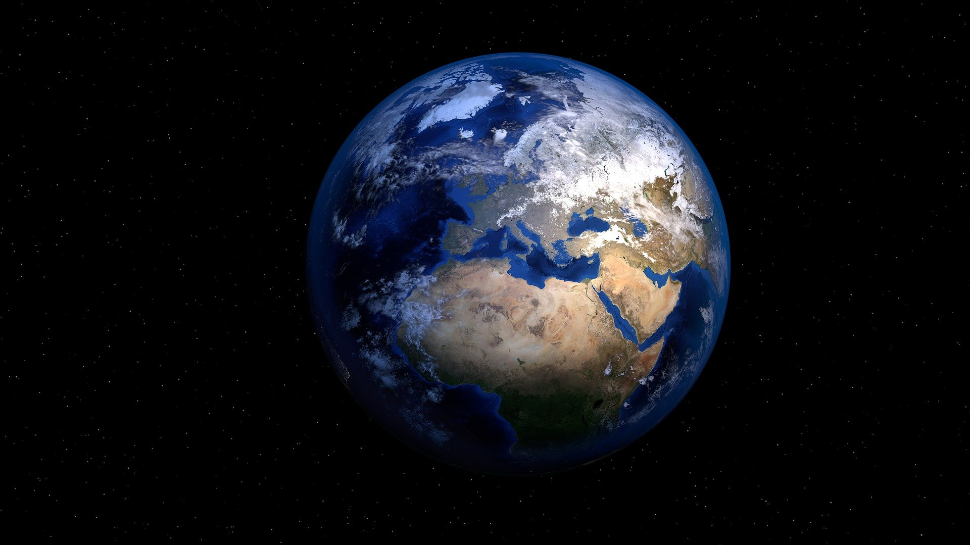 Der Planet Erde aus dem All betrachtet